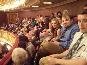 Almost the whole crew. Great 2nd balcony seating.