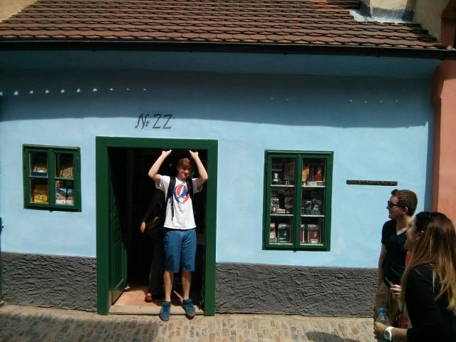 Rowan is at Franz Kafka's House